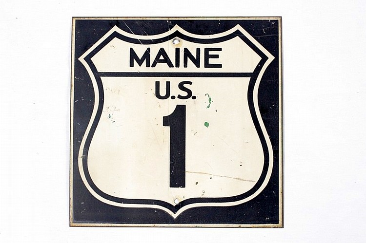 Maine U.S. 1 Road Sign