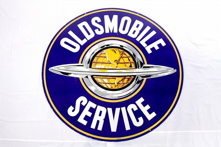 Oldsmobile Service Double Sided Porcelain Sign