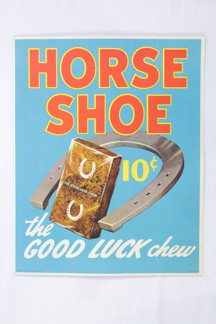 Horse Shoe Chewing Tobacco Advertising Card
