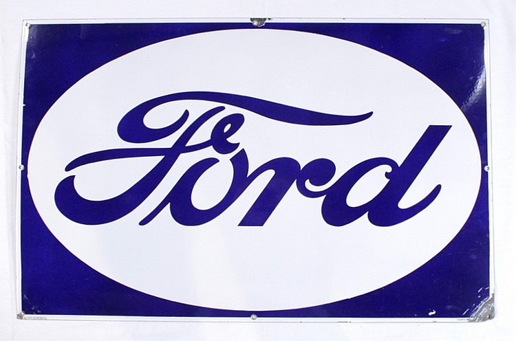 Rare Original Ford Single Sided Porcelain Sign