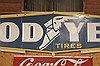 Huge 22' Porcelain Goodyear Tires Sign