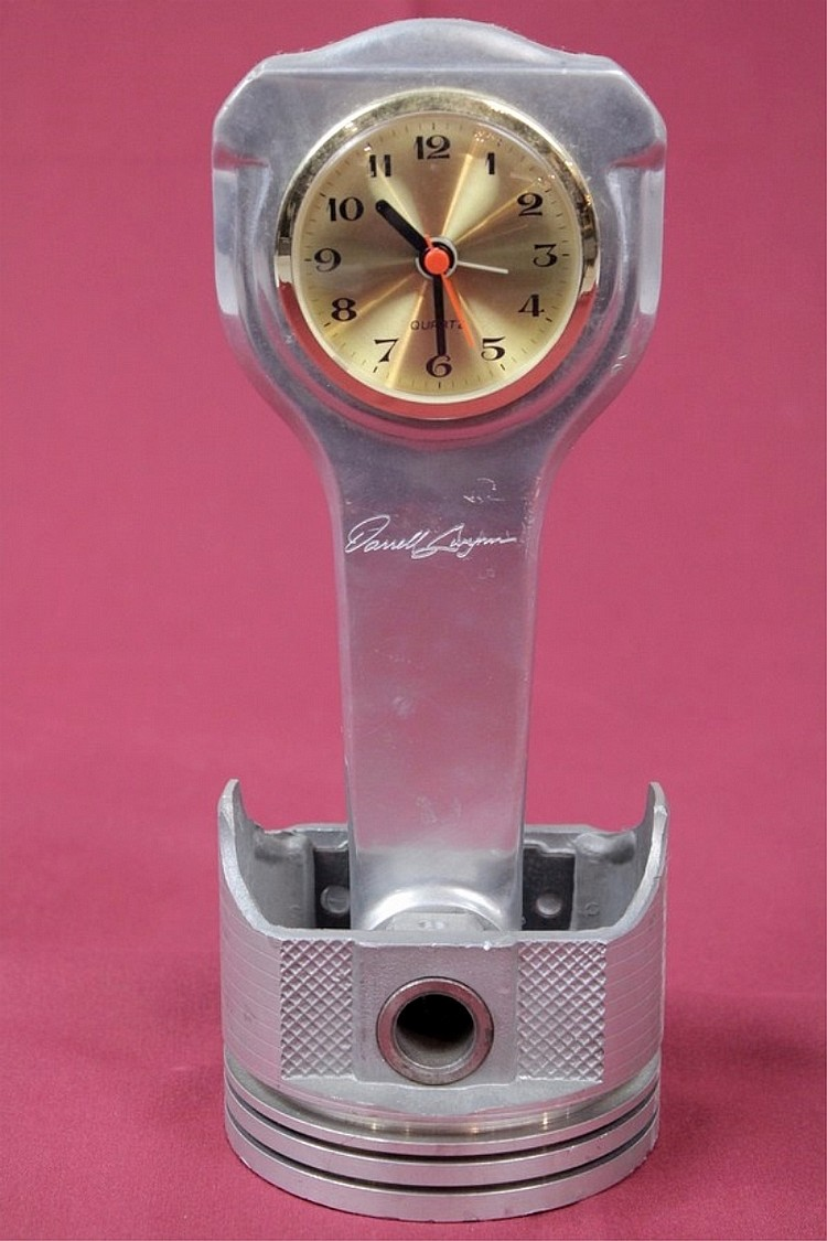 Darrell Gwynn Piston Mantle Clock