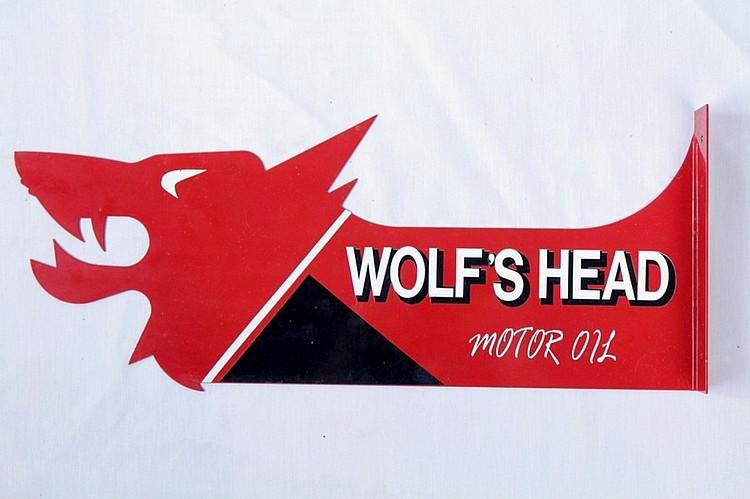 Wolf's Head Motor Oil Diecut Flange