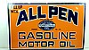 Rare All Penn Gasoline Motor Oil Porcelain Sign