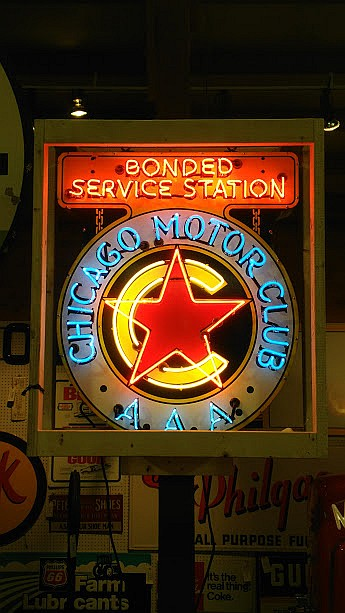 Original Chicago Motor Club AAA SSP Neon Sign