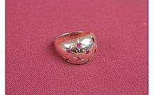 14kt Yellow Gold Syn Ruby Ring 3.3 DWT