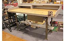 6 Foot Workbench w/ Small Vice