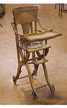 Ornate Antique Highchair/Stroller Combination