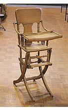 Ornate Antique High Chair/Stroller Combination