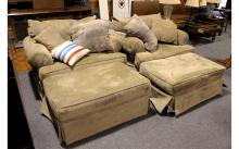 2 Overstuffed Couch Chairs
