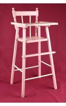 Pink Wooden Doll High Chair