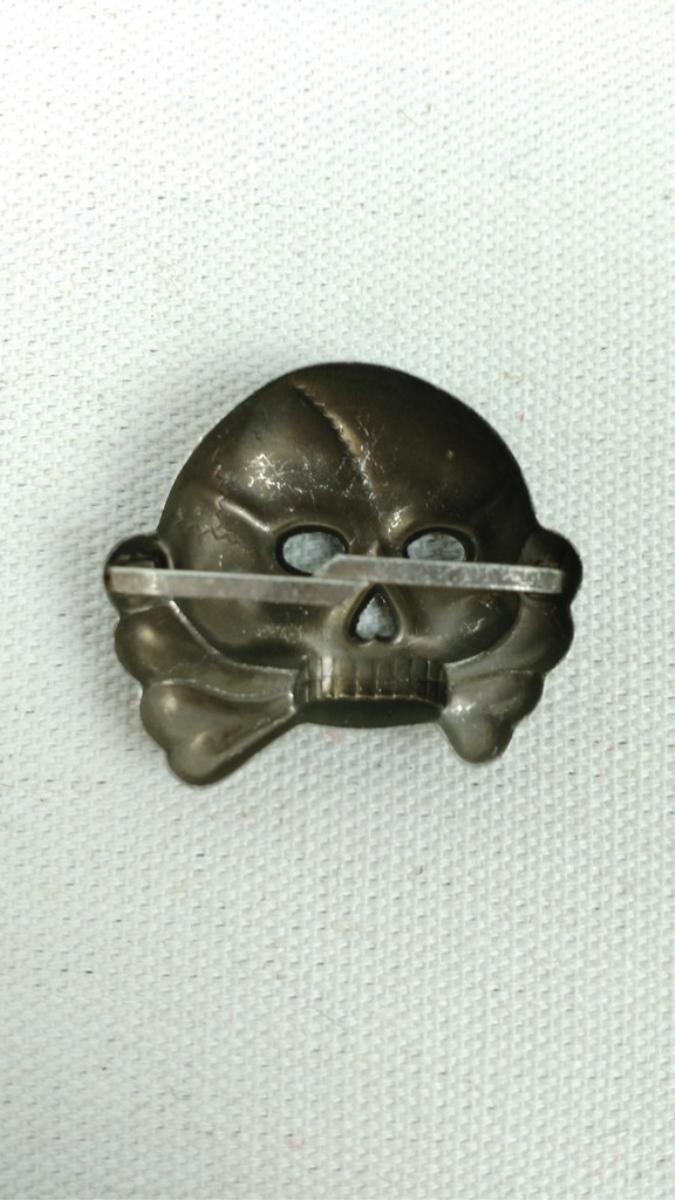 Nazi WWII Allgemeine SS Officer Visor Cap Skull