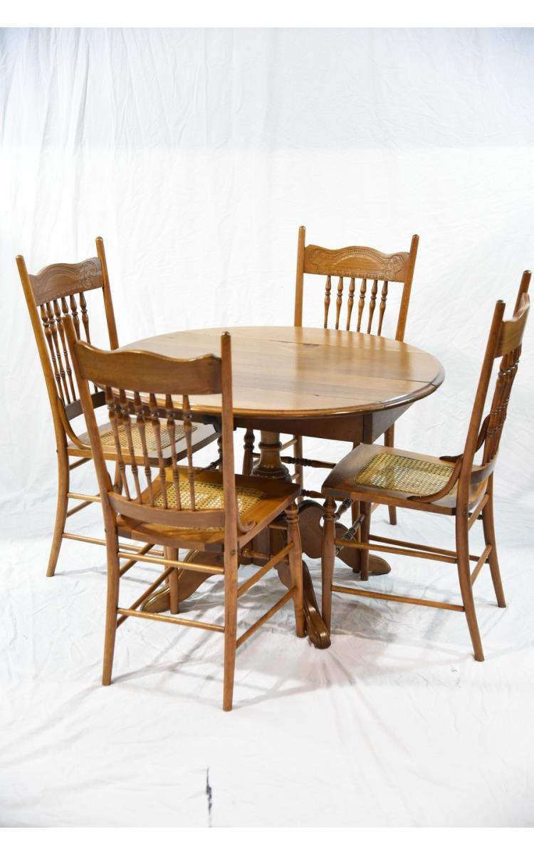 20th century drop leaf table and chairs - Drop leaf table and chairs uk ...