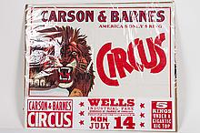 Carson & Barnes Circus Poster