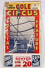 Cole 3 Ring Circus Poster