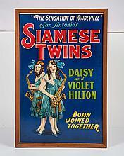 Siamese Twins, Vaudeville Poster