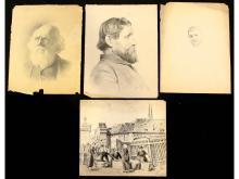 Ellis Prentice Cole (1862) 4 Drawings on Paper