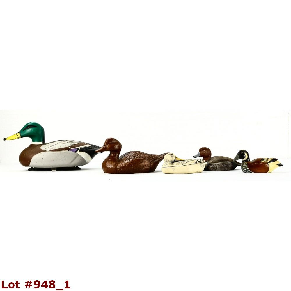 Lot of 5 Duck Decoys