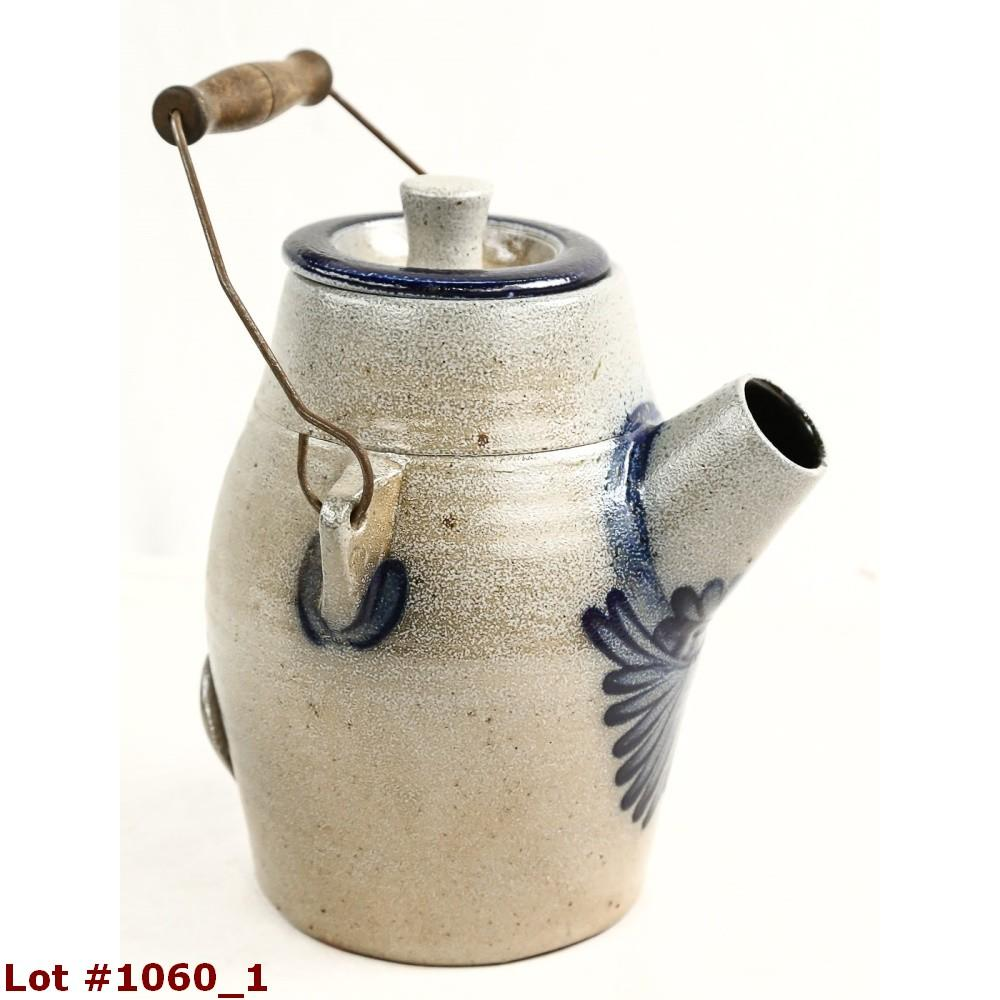 Rowe Pottery Stoneware Watering Can