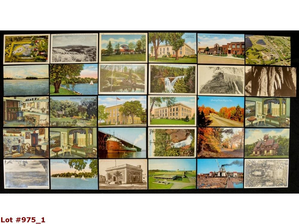 Lot Of 30 Wisconsin Vintage Postcards