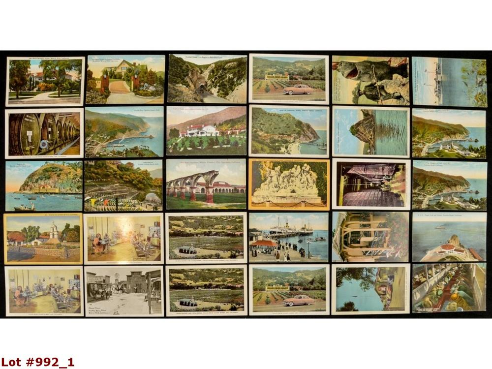 Lot Of 30 California Vintage Postcards
