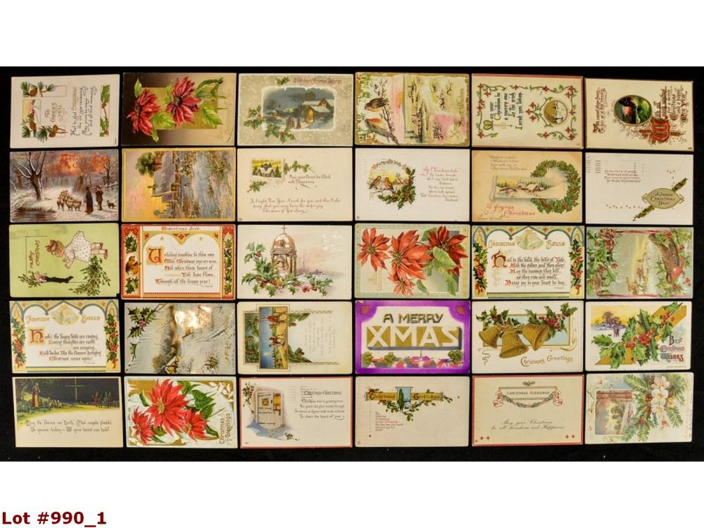 Lot Of 30 Christmas Vintage Postcards