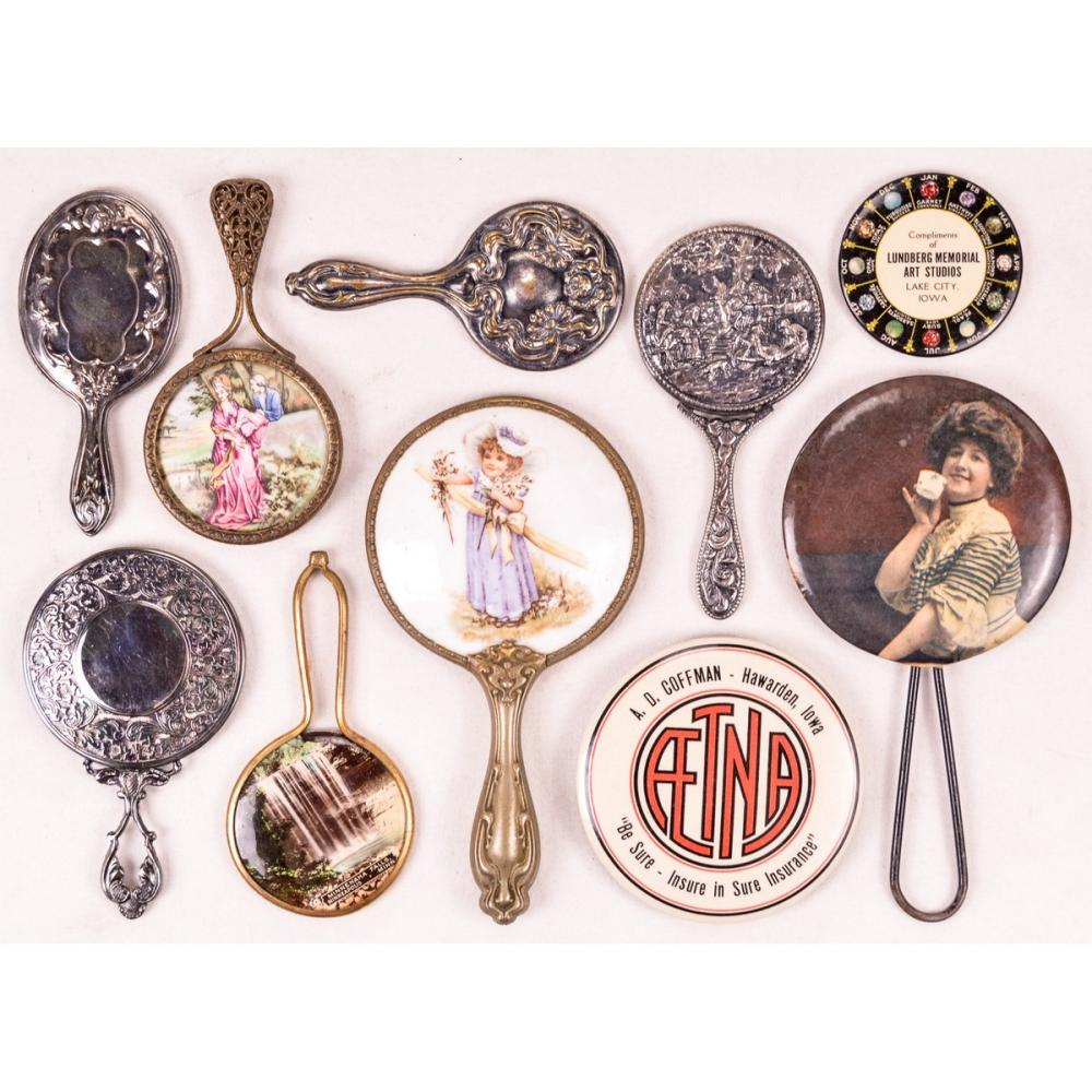 Lot of Victorian Style/Advertising/Doll Mirrors