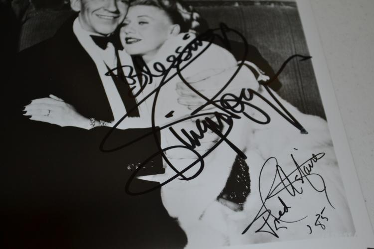 Ginger Rogers And Fred Astaire Autographed Photo