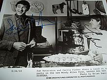 SAM WATERSON AND CARRIE FISCHER AUTOGRAPHED PHOTO