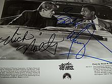 NICK NOLTE AND EDDIE MURPHY AUTOGRAPHED 48HRS PHOTO