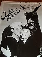 DONALD O'CONNER AND MARTHA HYER AUTOGRAPHED PHOTO