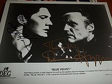 BLUE VELVET KYLE MacLACHLAN AND DENNIS HOPPER SIGNED PHOTO