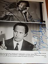 ROBIN WILLIAMS AND BILLY CRYSTAL AUTOGRAPHED PHOTO