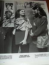 FAST TIMES AT RIDGEMONT HIGH PHEOBE CATES AND JENNIFER JASON LEIGH SIGNED PHOTO