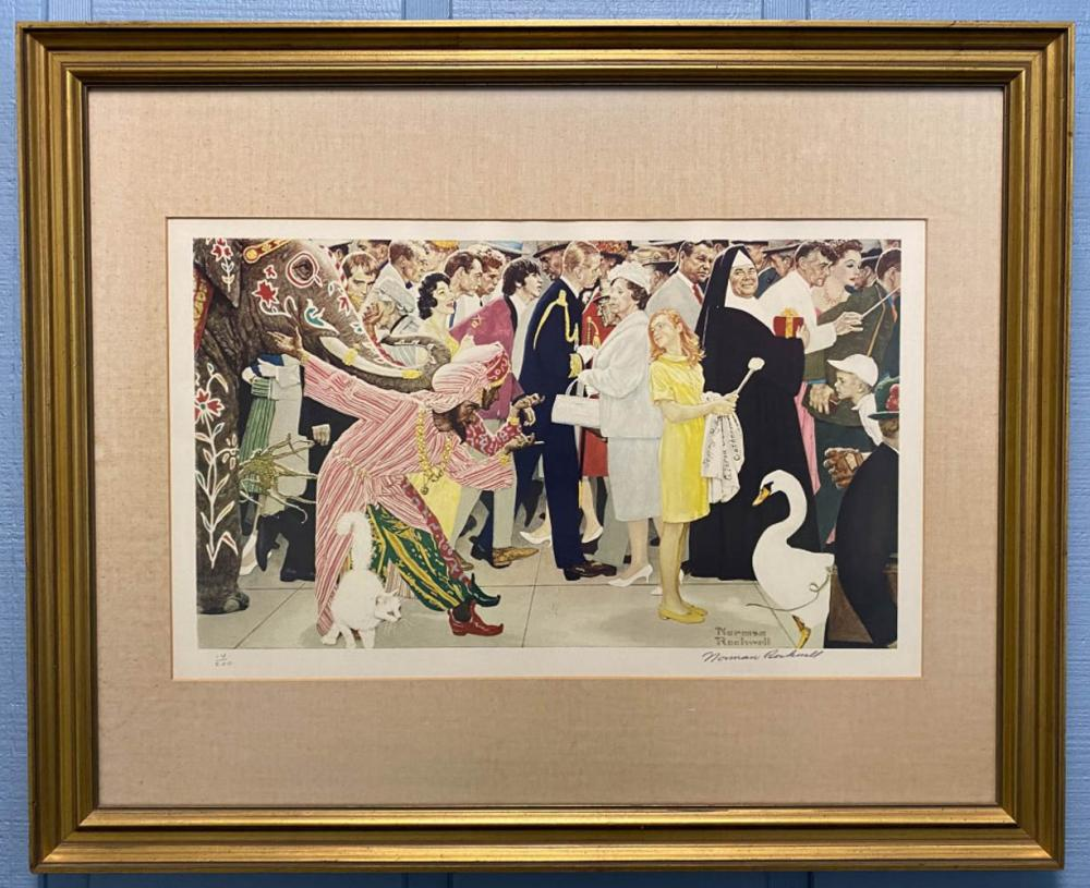 Norman Rockwell Signed Print