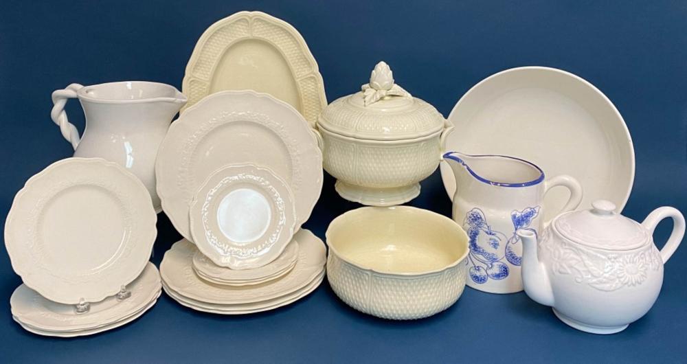 White and Cream Glaze Porcelain