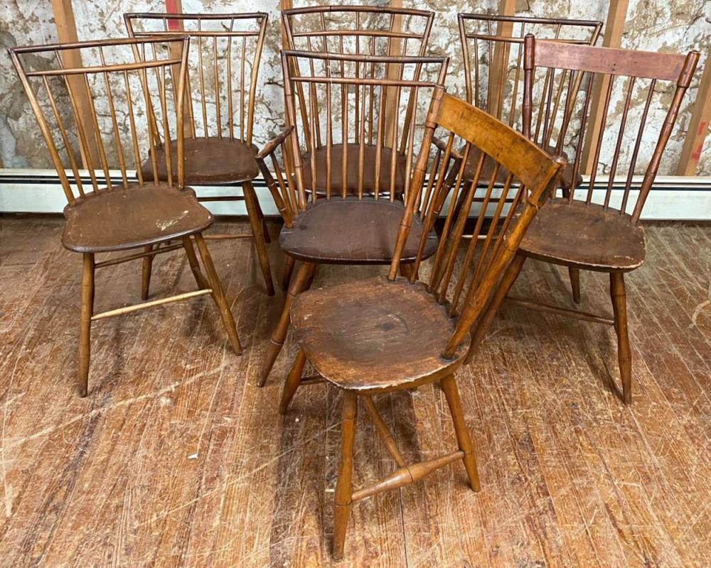 Seven Windsor Chairs