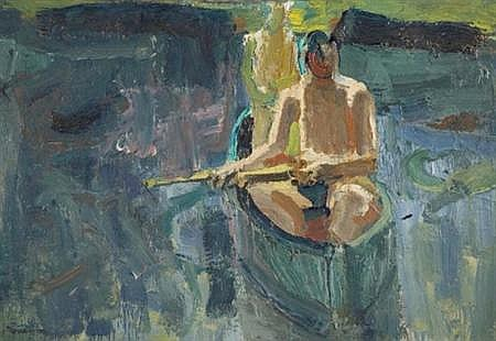 David Park American, 1911-1960 Canoe, 1957