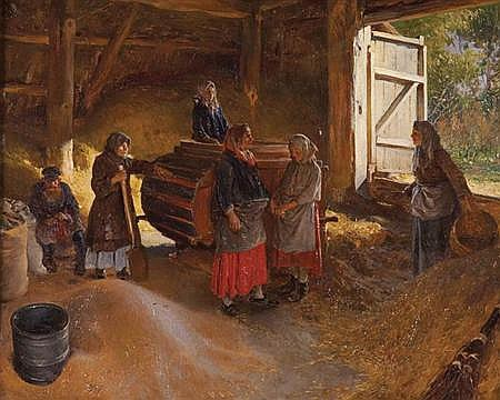Klavdiy Vasilievich Lebedev Russian, 1852-1916 Threshing Floor
