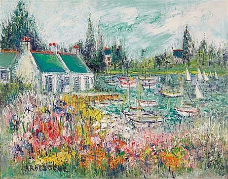 Yolande Ardissone French, b. 1927 Riviere Fleurie
