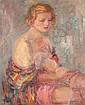 Nicolas (Nicolai Petrovich) Gloutchenko Russian, 1902-1977 Woman in a Kimono, Study of the Artist's Wife, Mykola Petrovyč Hluščenko, Click for value