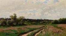 Hugh Bolton Jones American, 1848-1927 The Meadow Road