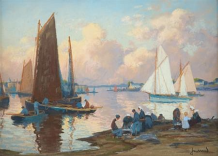 Mathurin Janssaud French, 1857-1940 Concarneau - L'avant Port