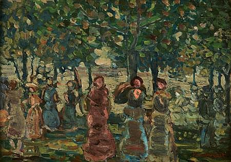 Maurice Brazil Prendergast American, 1858-1924 Sunday in the Park, circa 1910-13