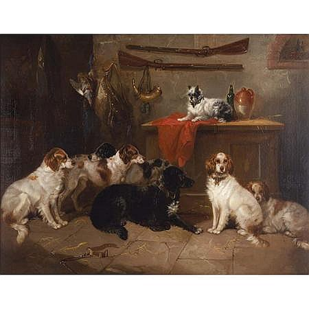 George Armfield British, circa 1808-1893 Sir Walter Scott's Dogs, 1854