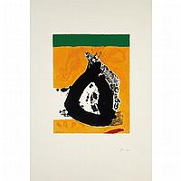 Robert Motherwell THE BASQUE SUITE NO. 4 Color screenprint