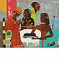 Romare Bearden SALOME WITH THE HEAD OF JOHN THE BAPTIST Color screenprint