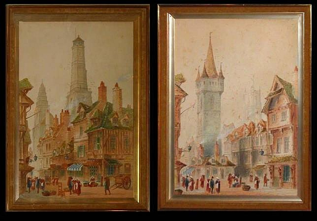 Paul Braddon British, 1864-1938 VIEWS OF ROUEN: TWO