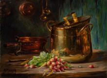Maurice Louis Monnot French, 1869-1937 Still Life with Radishes