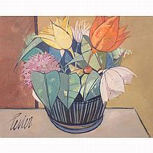 Charles Levier French, 1920-2003 Panier de Fleurs